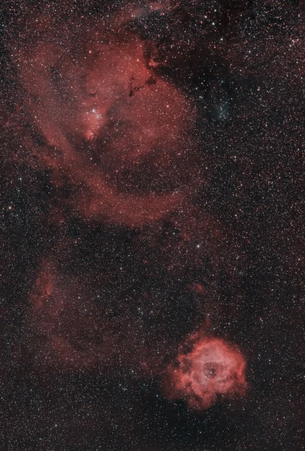 Rosette Nebula wide field,                                Gianluca Belgrado