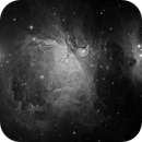 Great Orion nebula M42 and M43 in details in L only,                                Arnaud Peel