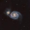 M51 Whirlpool Galaxy in HaRGB,                                Jürgen Ehnes