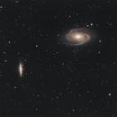 Bode's galaxy and Cigar galaxy,                                Lovag Tamás