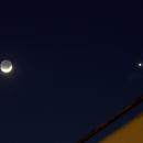 Venus and Moon conjunction,                                Starlight Hunter