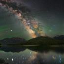 Milky Way over Hyalite Reservoir - Bozeman, MT: USA,                                Shane