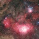 M8 & M20 Widefield HaRGB,                                Pleiades Astrophotography Team