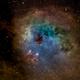 Tadpole Nebula in narrowband,                                Mike