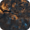 9 Panel Mosaic of IC1318/Crescent Nebula in Cygnus,                                HarryH