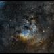 NGC 7822 - SHO Hubble palette,                                Stefaan Van Mieghem