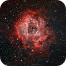 Rosette Nebula using NBRGB combination,                                JDJ