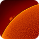 Sun with active surface and cromosphere and sunstorms,                                Andreas Nilsson
