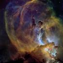 NGC3576 Statue of Liberty Nebula in HST Palette,                                John Ebersole