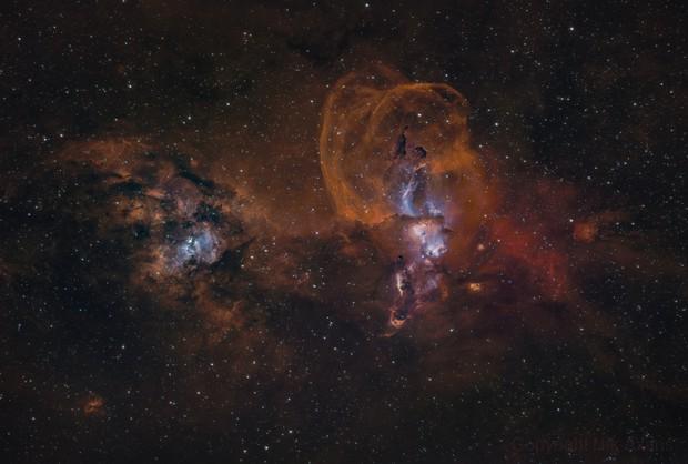 Statue of Liberty Nebula NGC 3576,                                Nick Axaris