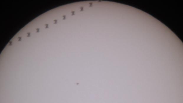 ISS Solar Transit,                                Russell Valentine