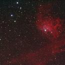 Flaming Star Nebula IC 405,                                404timc