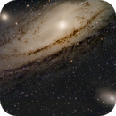 M31 - The Andromeda Galaxy - with neighbors M32 and M110,                                Patrick Cosgrove
