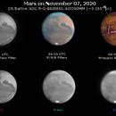 Mars on November 7, 2020 (RGB and IR),                                JDJ