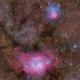 Trifid & Lagoon Nebulae,                                Landon Boehm