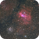 Bubble Nebula (NGC 6822) & M52 Cluster in Cassiopeia,                                Yakov Grus