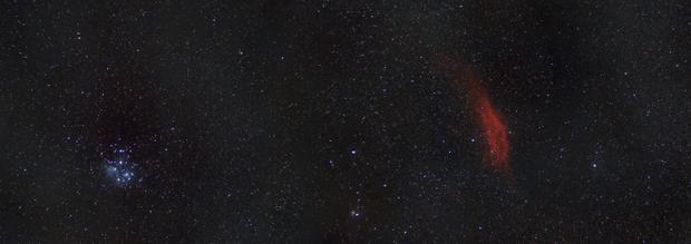 Pleiades to the California Nebula Mosaic,                                JDJ