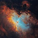 M16 Eagle Nebula 20210524 18600s SHO 01.3.4,                                Allan Alaoui