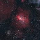 M52, Bubble Nebula and friends,                                starfield