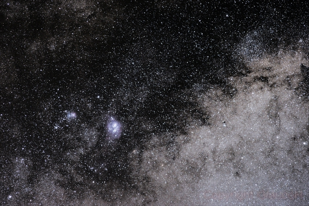M8, M20 and Milky Way,                                GlaucoH