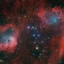 Flaming Star Nebula (IC-405) & Tadpole Nebula (IC410),                                Matt Harbison