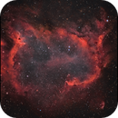NGC1848 Soul and a bit of Heart in Ha colourized ver 2.0,                                Göran Nilsson
