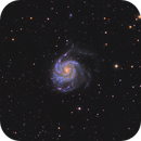Wide field of M101 in LHaRGB,                                Benjamin Csizi