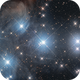 The Pleiades (M45) Mosaic of two images,                                -Amenophis-