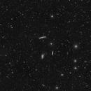 Leo triplet wide field view + I.F.N. (Lum) + asteroid Semele,                                *philippe Gilberton