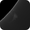 Extremely faint prom with explosive prom nearby 5/7/2020,                                rigel123
