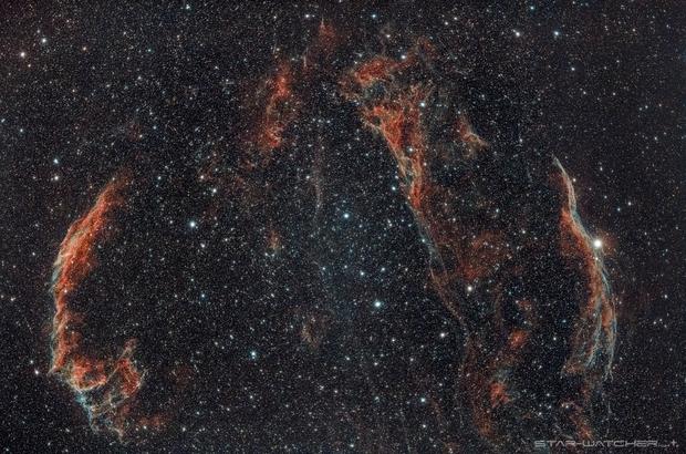 Cygnus Loop 400mm,                                star-watcher.ch