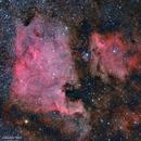 NGC7000 Nébuleuse Nord America - IC5070 Nébuleuse du Pelican - Ha LRVB,                                Séb GOZE