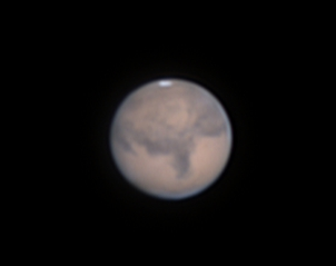 """Mars at October 1st 01:47 German time in 6"""" f/8 newton resized to 130%,                                Niklo"""