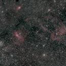 La bulle, M52 et nébulosités,                                Virginie