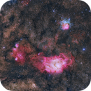 M8, M20 and NGC 6559,                                Evan Tsai