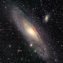 M31, Great Andromeda Galaxy, LRGB 6-panel mosaic, Nov. 2019,                                David Dearden