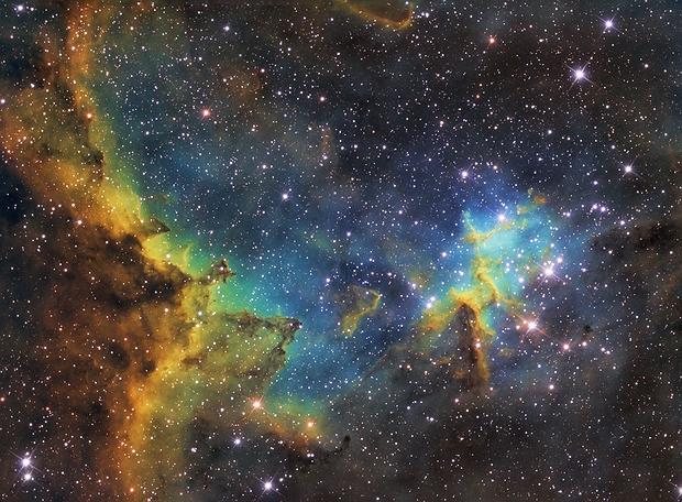 Heart Nebula NGC 896 / IC 1805 - Herznebel / Herz Nebel CORE,                                Chris Klein