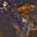IC1805 - Heart nebula bicolor,                                PiPais