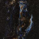Western Veil Nebula NGC 6960 SHO Palette,                                Ben Koltenbah