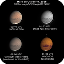 Mars on October 8, 2018 (UV-IR Cut/IR-685pass Filters),                                JDJ