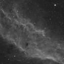 California Nebula in Ha with a colour camera,                                Orestis Pavlou