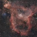 Whole Heart Nebula. 2 panel mosaic,                                Simas Šatkauskas