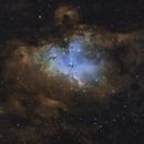 Eagle Nebula in simulated Hubble Palette,                                Alessandro Biasia