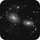 Interacting Galaxies NGC 3169 / 3166 / 3165 and 2 Asteroids,                                sky-watcher (johny)
