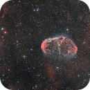 The Crescent nebula NGC6888 in HOO + animated GIF,                                Vincent F