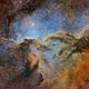 NGC 6188 in SHO + RGB Stars,                                Casey Good