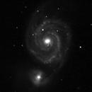 M51 Back&White,                                kaelig