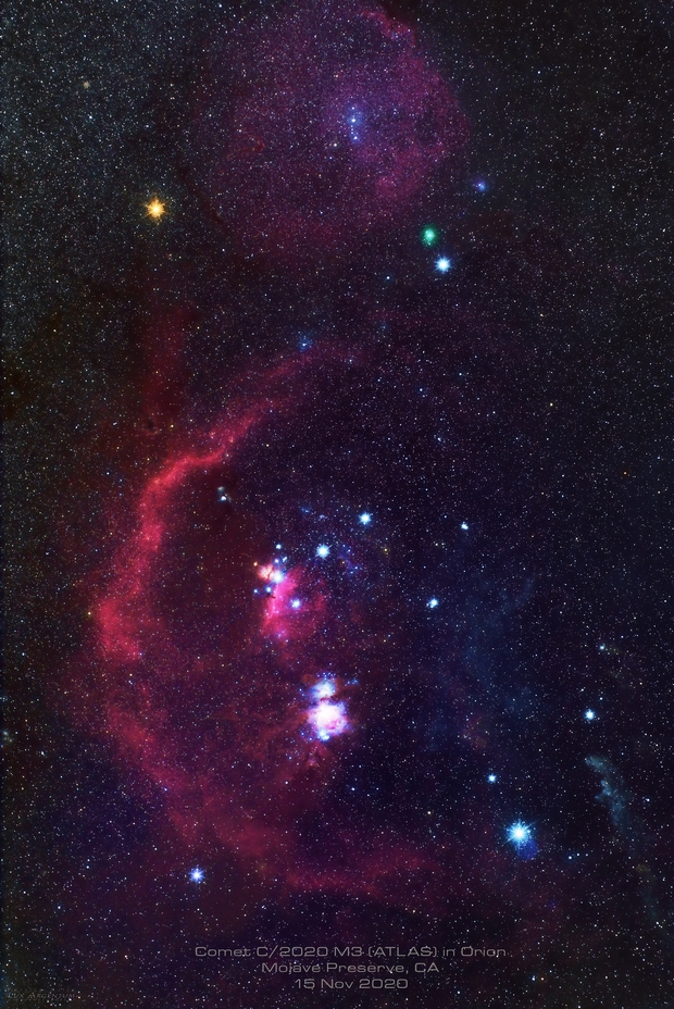 Comet C/2020 M3 (ATLAS) in the constellation Orion,                                Patrick Hsieh