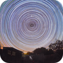 startrail with my telescop,                                Exaxe