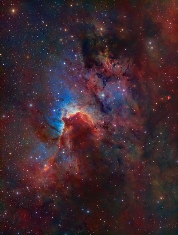 Sh 2-155 - The Cave Nebula,                                Alan Pham
